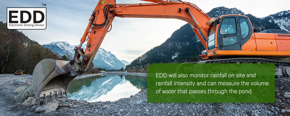 EDD water treatment, effluent dosing